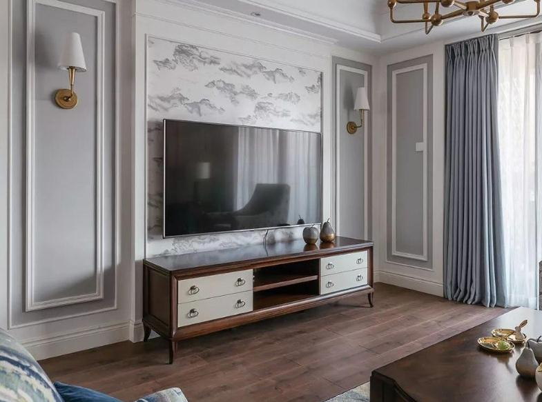 越来越多人用石膏线装修电视背景墙了,简约美观,关键还省钱