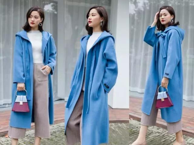2019年新款的双面羊绒大衣,这5款谁穿都很美